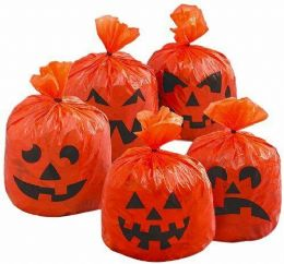 Halloween Ideas - 20 x Pumpkin Hanging Decoration Tree Leaf Halloween Party Bags